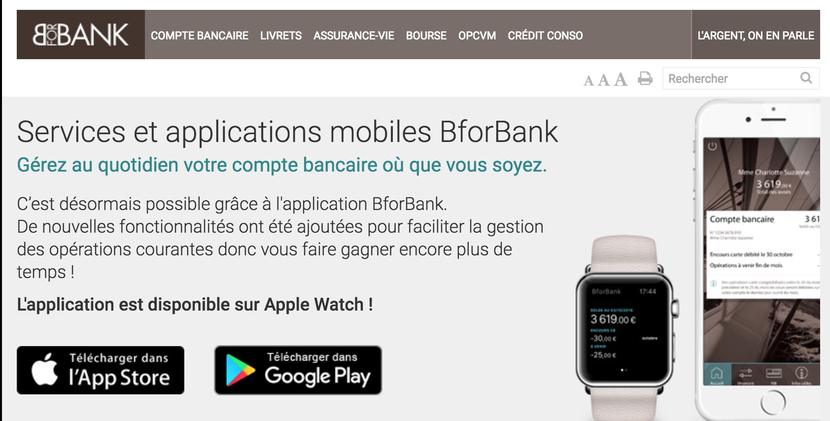 BforBank sur Apple Watch : la banque à son poignet