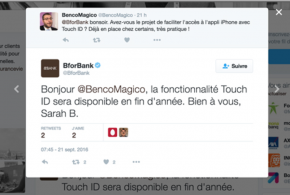 Touch ID BforBank