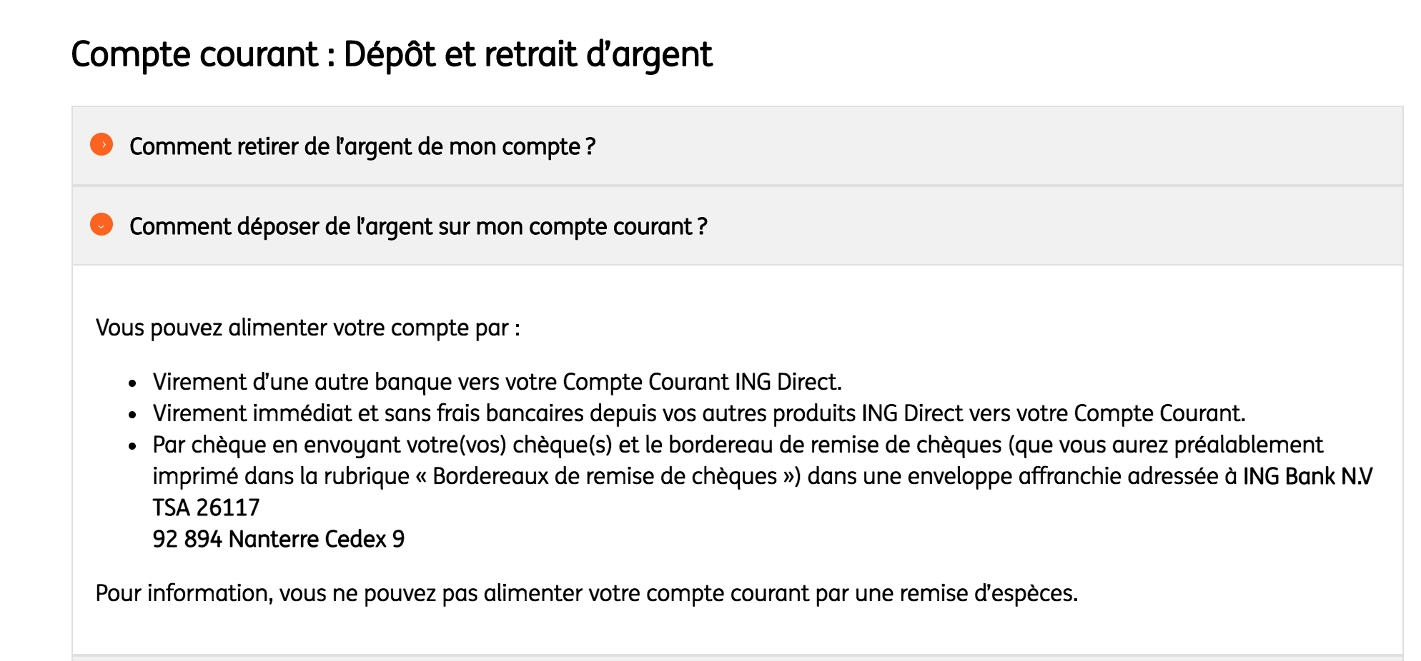 Comment créditer son compte courant ING Direct ?