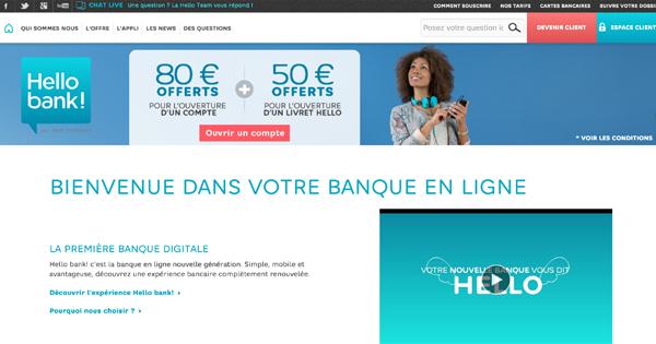 Le revenu minimal pour Hello Bank! passe de 1.200 à 1.000 euros
