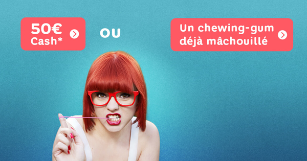 Choisissez le chewing gum machouillé chez Hello Bank!