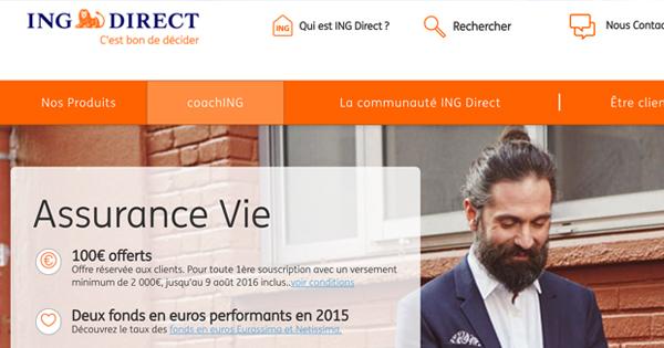 Hausse des frais de l'Assurance Vie ING Direct en 2017