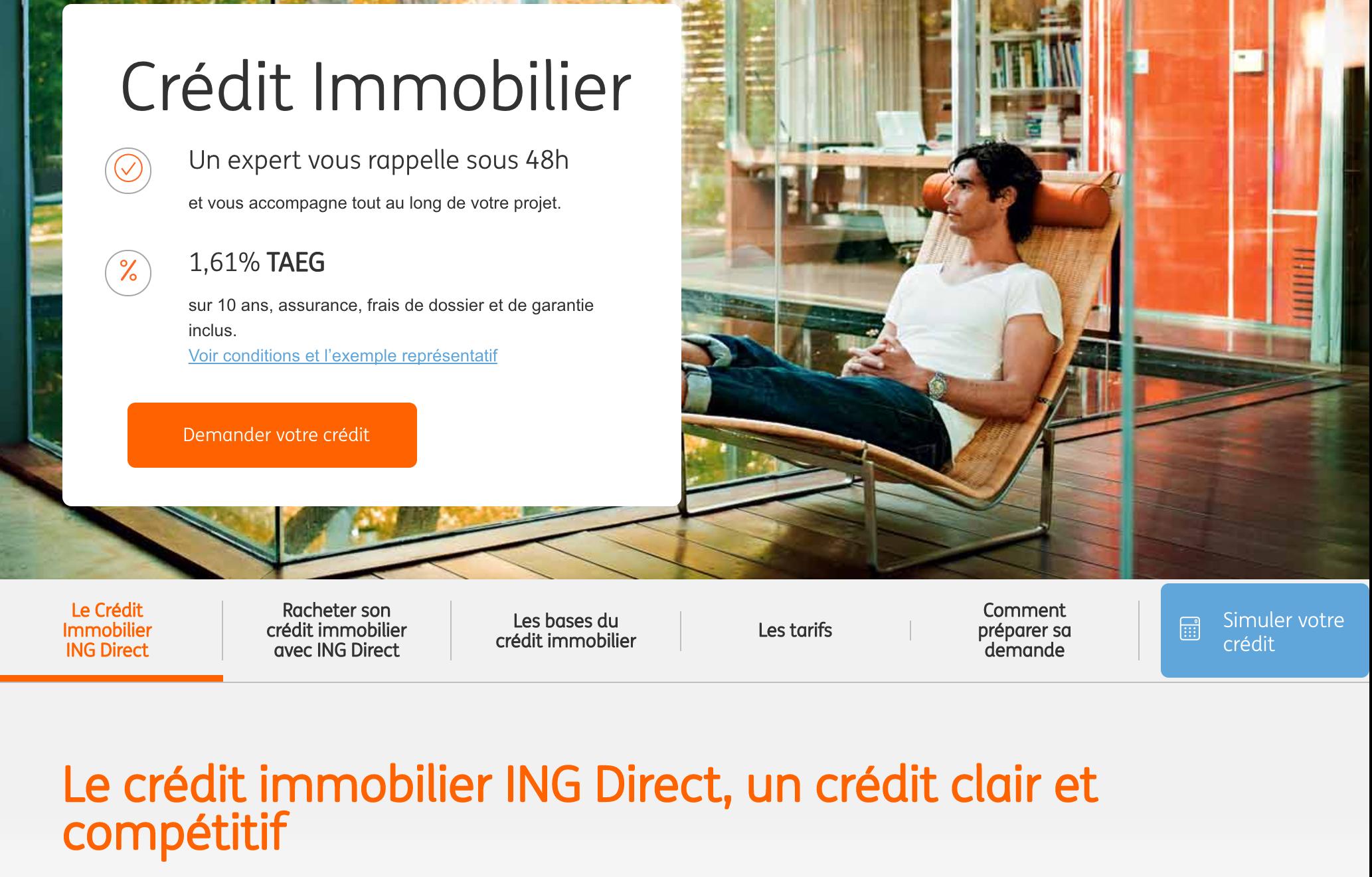 ING Direct rachète les crédits à un tarif très avantageux