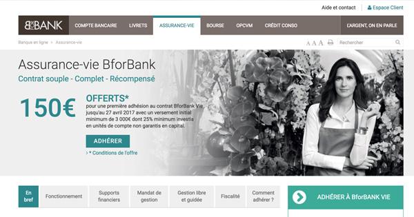 L'assurance vie BforBank vous offre 150 euros en guise de bienvenue