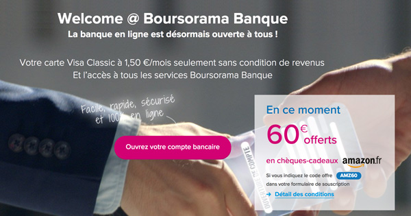 Boursorama et Amazon