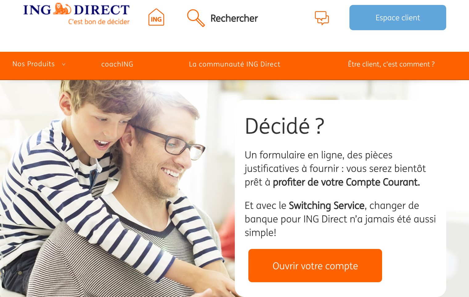 Ouvrir un compte ING Direct
