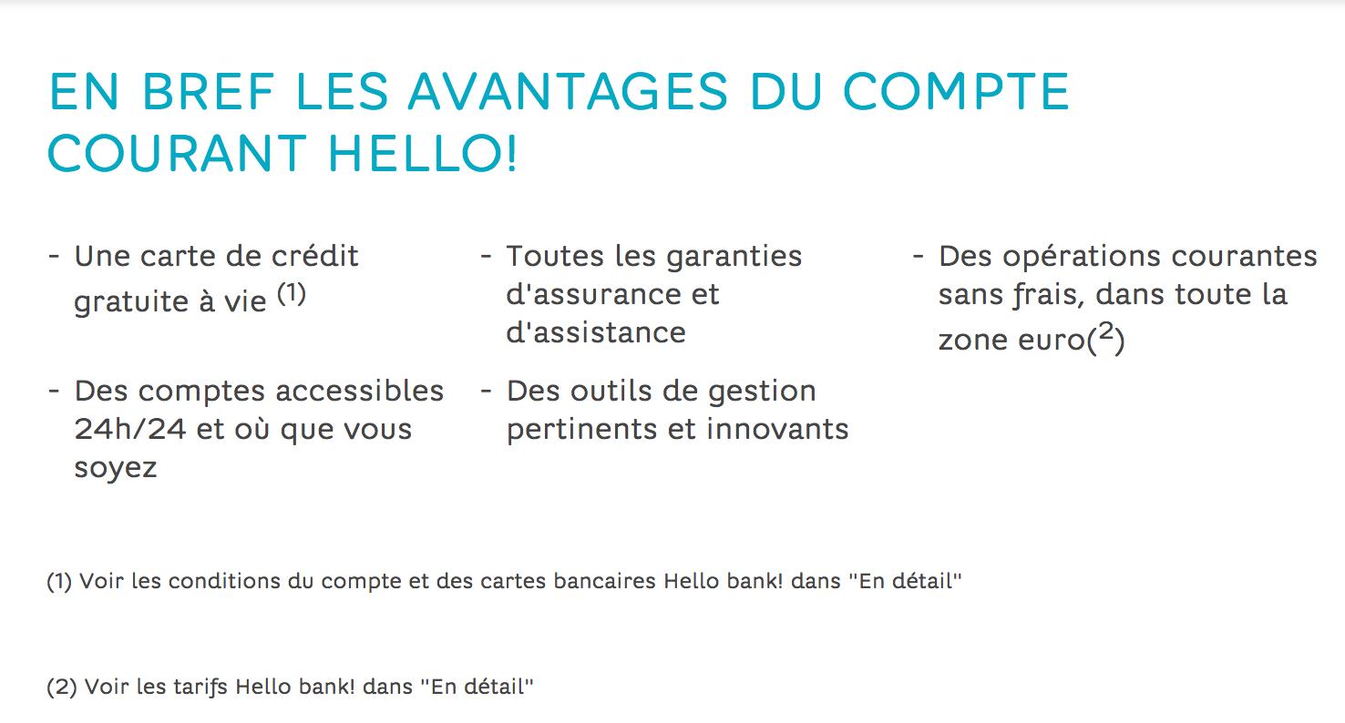 Ouvrir un compte courant Hello Bank