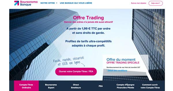 Compte bourse Boursorama : 80 euros de bonus offerts