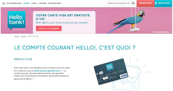 Bonus de bienvenue Hello Bank! : 80 euros offerts