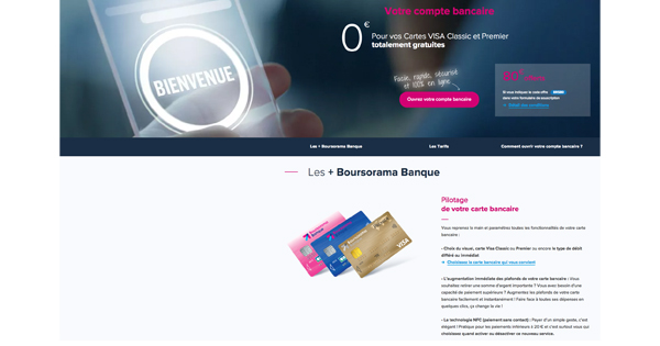 Bonus bienvenue 80 Boursorama Banque