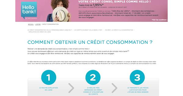 Crédit conso Hello Bank! : le crédit qui s'adapte parfaitement au client