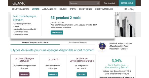Livret Epargne BforBank 3%