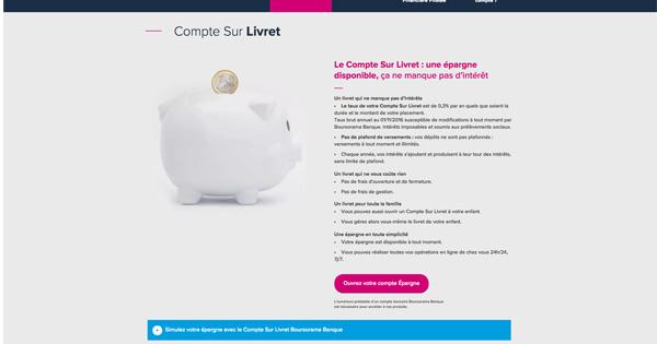 Livret Epargne Boursorama Banque