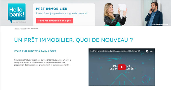 Pret immobilier Hello Bank