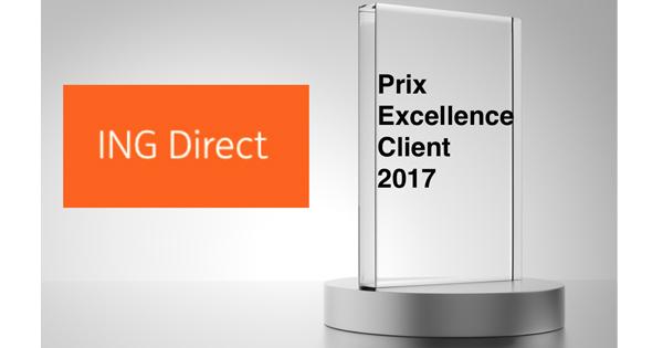 Prix Excellence Client : ING Direct le remporte en 2017