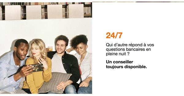 Support client 24h7 Orange Bank
