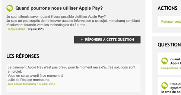 Apple Pay : Monabanq n'est pas encore convaincu