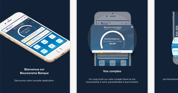 Application mobile Boursorama Banque