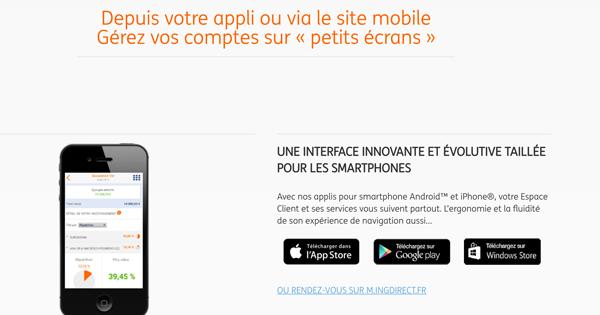 Les applications mobiles ING Direct appréciées par les clients
