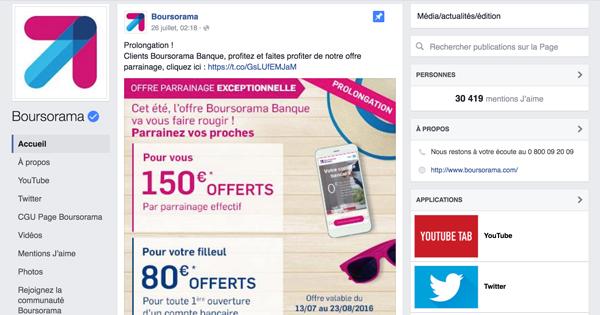 Parrainage Boursorama Banque : le meilleur du marché