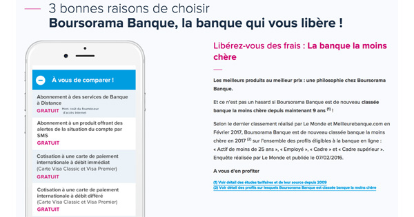 Boursorama Banque 1 million clients
