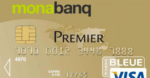 Monabanq offre la carte Visa Premier à 5 euros par mois