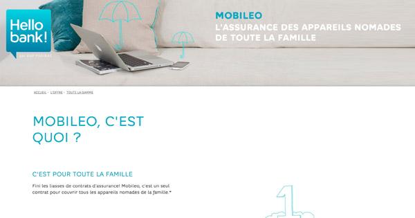 Assurance Mobileo Hello bank! : le smartphone est garanti !
