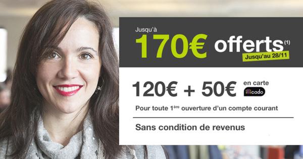 Monabanq revient avec 170€ de bonus à l'ouverture !