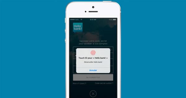 Hello bank! : Touch ID est disponible sur l'application mobile
