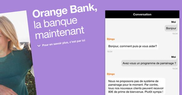 Parrainage Orange Bank : 120€ de bonus à l'ouverture