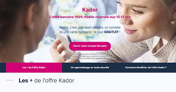 Kador Boursorama Banque