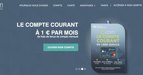 La carte bancaire C-Zam Carrefour compatible avec Apple Pay
