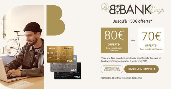 BforBank Days : 150€ de bonus pour les nouveaux clients